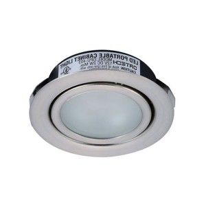 LED Puck Lights - 2W - 5000K Cool White - Satin Nickel Trim