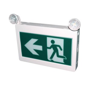 LED Running Man Exit Sign - 120-347V - 3.6V Ni-cad Battery - Lamp Heads Included