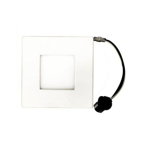 LED Square Recessed Retrofit Ultrathin Slim Panel - White - 12W - 4 inch - 3000K Warm White - 120V AC