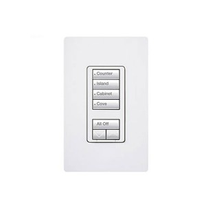 Radio RA2 - Hybrid keypad - Dual Group - W/ Raise/Lower Keypad - 120V - 450W Max. - White