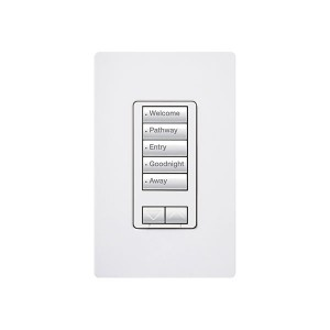 Radio RA2 - Hybrid keypad - 5 Button - W/ Raise/Lower Keypad - 120V - 450W Max. - White