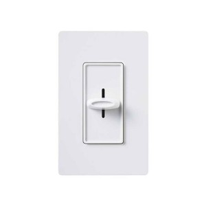 Skylark - Incandescent/ Halogen Dimmer - Slide to Off - 120V - 600W - White - Wall plates not Included