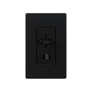 Skylark - 3-Wire Fluorescent Dimmer - W/ On/Off Switch - 120V - 8A - Black