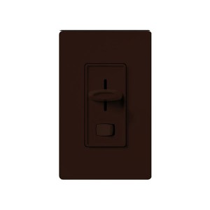 Skylark - 3-Wire Fluorescent Dimmer - W/ On/Off Switch - 120V - 8A - Brown