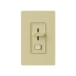 Skylark - 3-Wire Fluorescent Dimmer - W/ On/Off Switch - 120V - 8A - Ivory