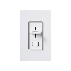 Skylark - Incandescent/ Halogen Dimmer - On/Off Switch - 120V - 600W - White - W/ Night Light - Wall plates not Included