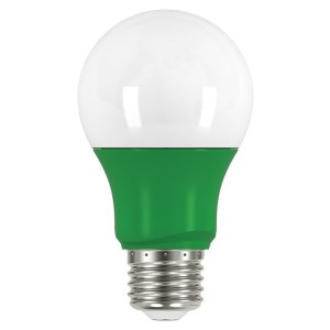 LED A19 - 2W - Non-Dimmable - Green - When Lit - 120V AC - 15,000 hrs lifespan - 4 Packs