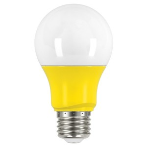 LED A19 - 2W - Non-Dimmable - Yellow - When Lit - 120V AC - 15,000 hrs lifespan - 4 Packs