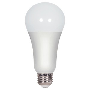 LED A19 - 15.5W - Dimmable - 3000K Warm White - 120V AC - 25,000 hrs lifespan