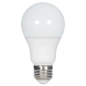 LED A19 - 9.5W - Dimmable - 3000K Warm White - 120V AC - 25,000 hrs lifespan