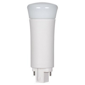 LED PL Bulb - 2-pin G24d base - 9W - 3000K Warm White - Vertical - 120-277V AC