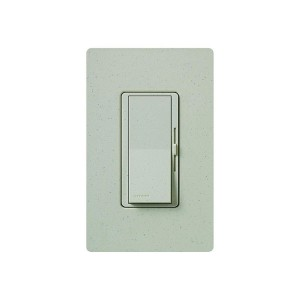 Fluorescent Dimmer - Dimming with Hi-lume® and Eco-10TM (ECO-Series) - Paddle Switch - Stone - 120V - 8A - Matte Finish - Wall Plate Sold Separately