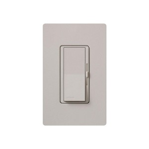 Fluorescent Dimmer - Dimming with Hi-lume® and Eco-10TM (ECO-Series) - Paddle Switch - Taupe - 120V - 8A - Matte Finish - Wall Plate Sold Separately