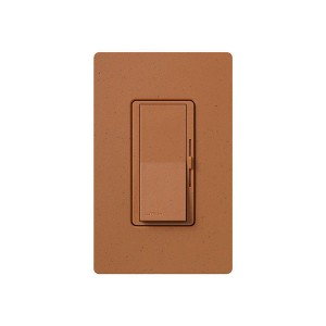 Electronic Low Voltage Dimmer - Paddle Switch - Terracotta - 120V - 300W Max. - Stain Finish - Wall Plate Sold Separately