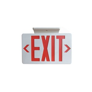 LED Red Letter EXIT Sign - 120/347V -Single & Double Sided