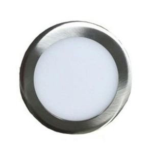 LED Round Ultrathin Slim Panel - Brush Nickel- 33W - 8 inch - 3000K Warm White - 120V AC