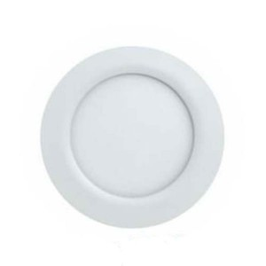 LED Recessed Retrofit Luminaire Ultrathin Slim Panel - White- 12W - 6 inch - 3000K Warm White - 120VC