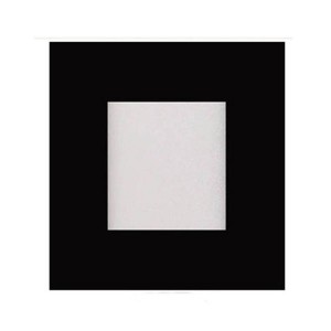 LED Square Ultrathin Slim Panel - Black- 12W - 4 inch - 3000K Warm White - 347V AC