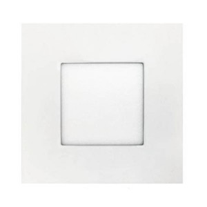 LED Square Ultrathin Slim Panel - White - 12W - 6 inch - 4000K Natural White - 120V AC