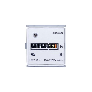 Meters - Hour Meters - Grässlin AC Hour Meter - Surface Mount - Combo Quick Connect & Screw Terminals - 24V - 60Hz