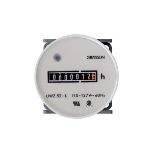 Meters - Hour Meters - Grässlin AC Hour Meter - Roun 52mm - Flush Mount - Combo Terminals - 120V - 60Hz