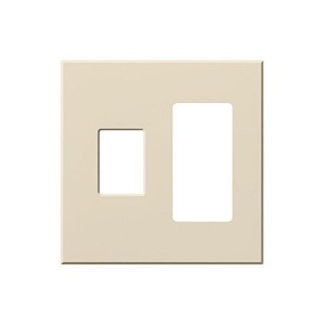 Vareo - Wallplates - For Vareo® and Nova Tb® Dimmers - and Architectural accessories - 2-Gang - Light Almond