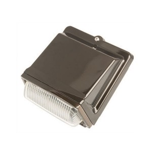 LED Wall Pack - 39W - 5000K Cool White - 120-277V AC - Glass Cover - Bronze Finish