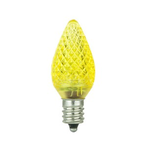 Decorative Bulb - C9 - E17 Base - Yellow - 120V AC - 10 packs
