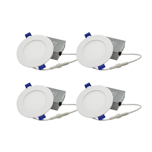 Buy LED Slim Panel Recessed Light - White - 9W - 4 inch - 4000K Natural White - 120V AC (4 PACKS) Online | Mr. Lighting